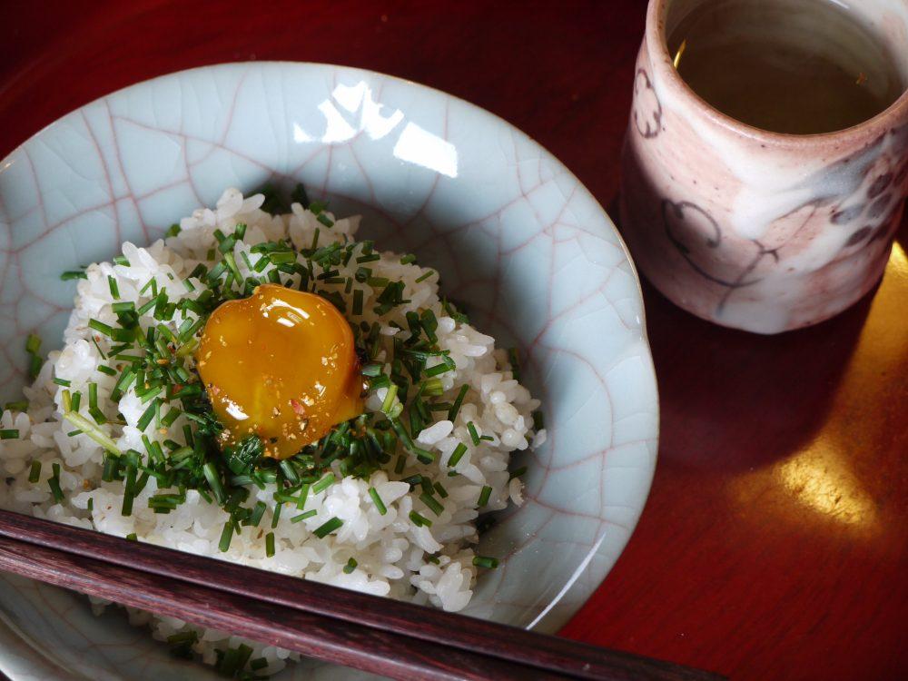 Shoyu zuke ranou (soy sauce marinated egg yolk)
